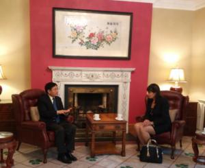 Ms Susan Barrett meeting with Dr Yue Xiaojong